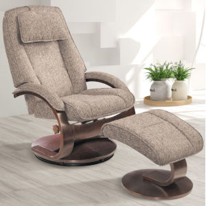 Selby Alpine Black Gray Teatro Graphite Fabric Manual Recliner with Ottoman