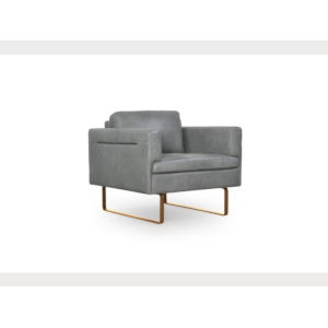 Uptown Gray 78-Inch Leather Chair