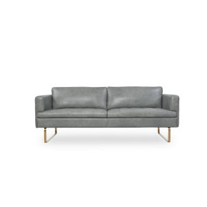 Uptown Gray 33-Inch Leather Sofa