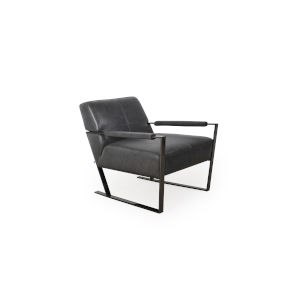 Uptown Charcoal 27-Inch Chair with Gunmetal Base