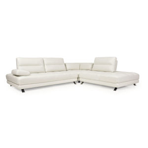 Nicollet White 114-Inch Three-Piece Sectional Sofa