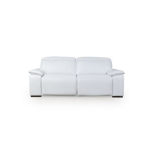 Loring White 87-Inch Motorized Sofa