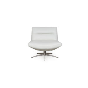 Nicollet White 30-Inch Swivel Chair