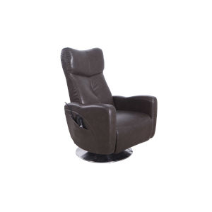 Linden Chrome Black Pepper Air Leather Power Recliner