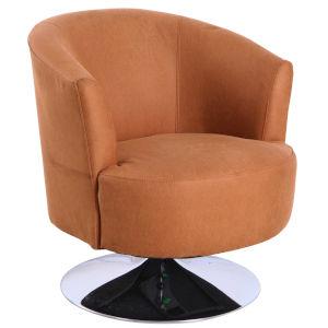 Nicollet Chrome Bark Brown Fabric Armed Leisure Chair