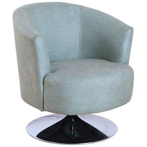 Nicollet Chrome Teal Fabric Armed Leisure Chair