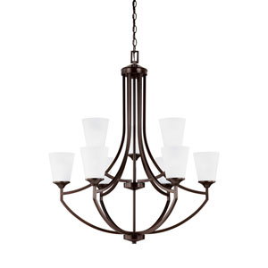 Linden Burnt Sienna Energy Star Nine-Light LED Chandelier