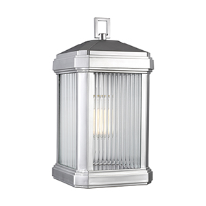 Pax Painted Brushed Nickel Nine-Inch One-Light Outdoor Wall Sconce