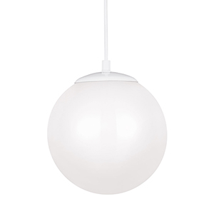 Cora Globe White 10-Inch LED Pendant