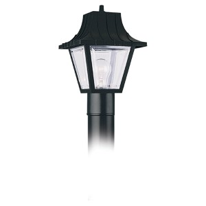 Olivia Transparent One-Light Outdoor Post Lantern