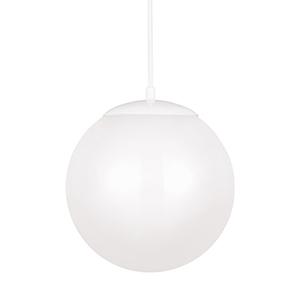 Cora Globe White 12-Inch LED Pendant