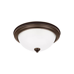 James Bronze Two-Light Flush Mount