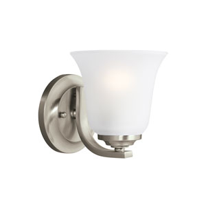 James Brushed Nickel 6-Inch One-Light Bath Light