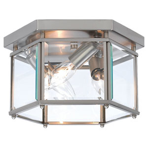 Oxford Brushed Nickel Large Semi-Flush Ceiling Light