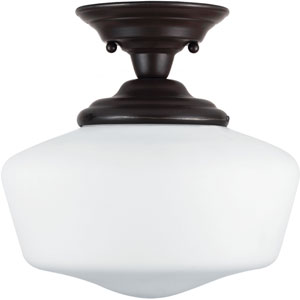 Russell Bronze One-Light Close to Ceiling Light