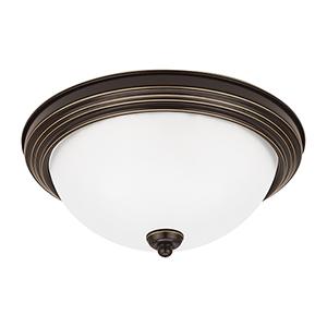 James Bronze 13-Inch LED Flush Mount