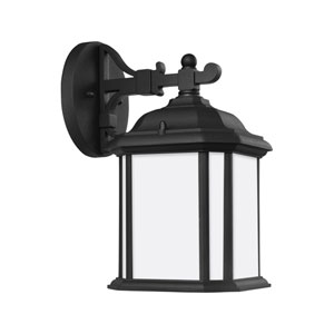 Preston Black 6.5-Inch One-Light Outdoor Wall Sconce