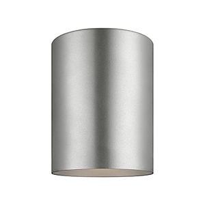 Castor Painted Brushed Nickel Five-Inch LED Outdoor Flush Mount
