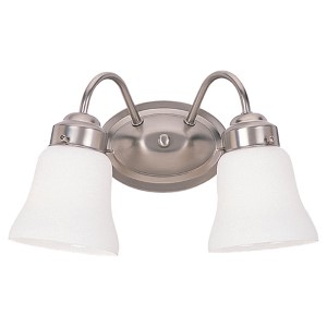 Partridge Brushed Nickel Two-Light Wall Mounted Bath Fixture