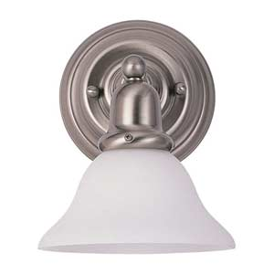 Partridge Brushed Nickel Bath Sconce