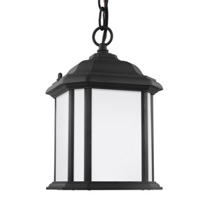 Preston Black One-Light Outdoor Pendant