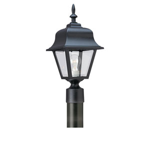 Olivia Black One-Light Outdoor Post Mount