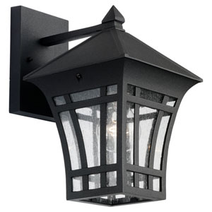 Uptown One-Light Black Outdoor Wall Lantern
