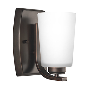Anita Burnt Sienna Five-Inch One-Light Bath Sconce