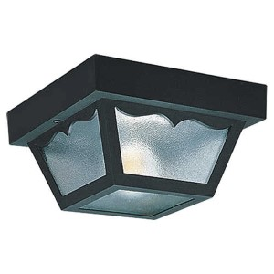 Olivia Transparent Two-Light Outdoor Flush Mount