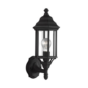 Russell Black 6.5-Inch One-Light Outdoor Wall Lantern