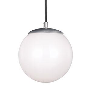 Cora Globe Satin Aluminium 8-Inch One-Light Mini Pendant