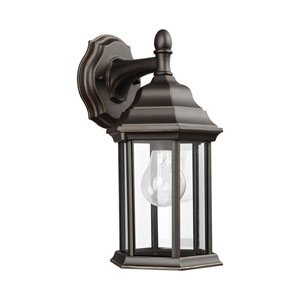 Russell Antique Bronze 6.5-Inch One-Light Outdoor Wall Lantern