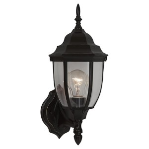 George Bronze 15.5-Inch High One-Light Outdoor Wall Lantern