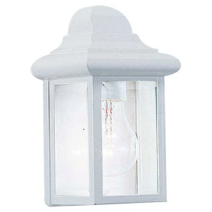Eloise White One-Light Outdoor Wall Lantern