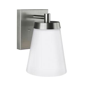 Madison Satin Aluminium 7-Inch One-Light Outdoor Wall Lantern