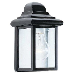 Eloise Black One-Light Outdoor Wall Lantern