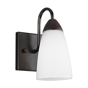 Nora Burnt Sienna Energy Star Five-Inch One-Light Bath Sconce