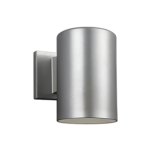 Castor Painted Brushed Nickel Seven-Inch LED Outdoor Wall Sconce