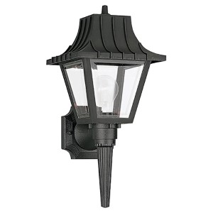Olivia Transparent One-Light Outdoor Wall Lantern