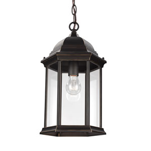 Russell Antique Bronze 9-Inch One-Light Outdoor Pendant