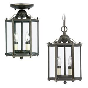 Oxford Bronze Convertible Lantern Mini-Pendant
