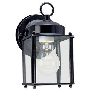 Oxford Black One-Light Outdoor Wall Lantern