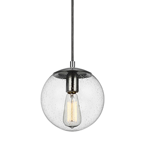 Cora Globe Satin Aluminium Eight-Inch One-Light Mini Pendant