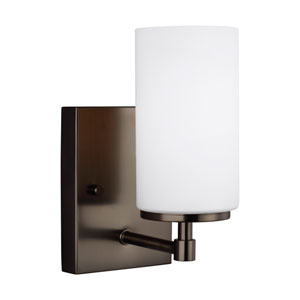Nicollet Oil Rubbed Bronze One-Light Bath Sconce Title 24