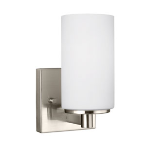Artemis Brushed Nickel 4.5-Inch One-Light Bath Light