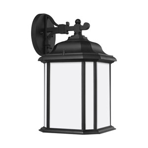 Preston Black 8.5-Inch One-Light Outdoor Wall Sconce