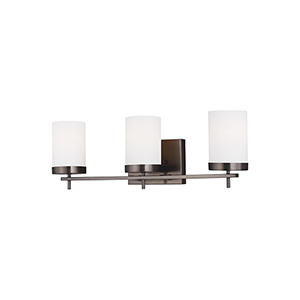 Loring Brushed Oil Rubbed Bronze Three-Light Wall Sconce
