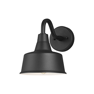 Hayes Light Black Eight-Inch One-Light Outdoor Wall Lantern