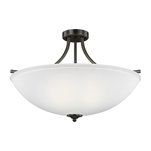 James Bronze 25-Inch Four-Light Semi Flush Mount