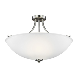 James Brushed Nickel 25-Inch Four-Light Semi Flush Mount